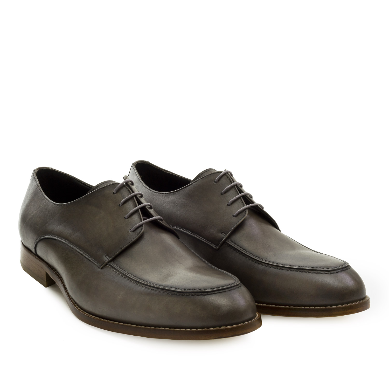 Men's Oxford Shoes in Taupe Leather