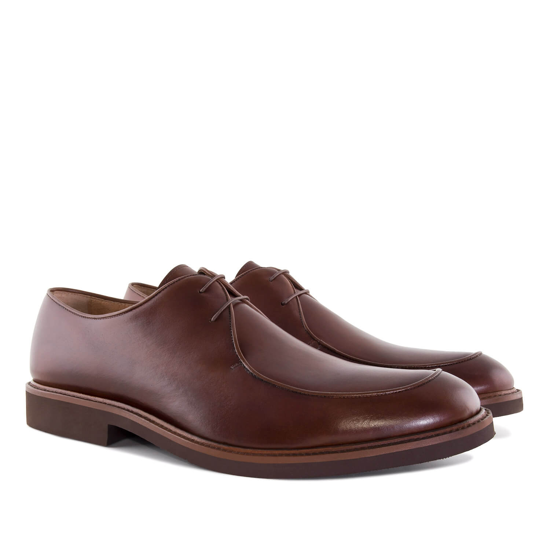 Elegantne kožne cipele, braon
