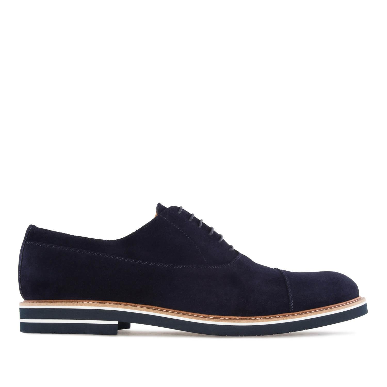 Zapatos Oxford Serraje Azul