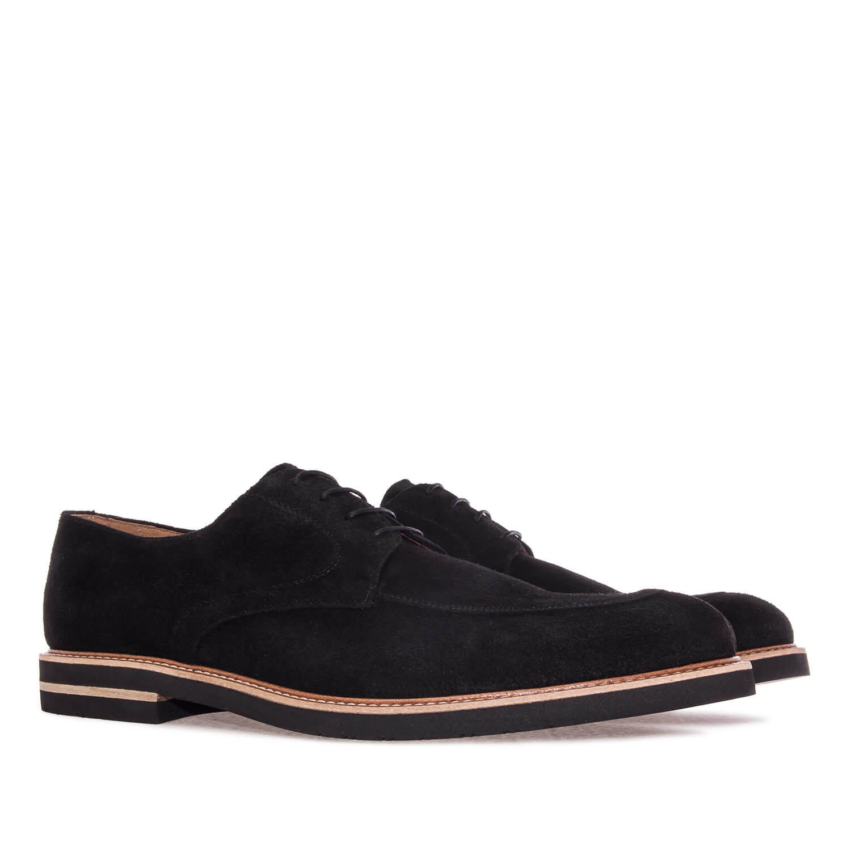 Zapatos Blucher Serraje Negro