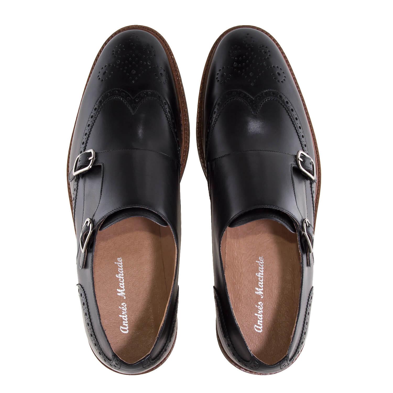 Zapato Monk piel Negro