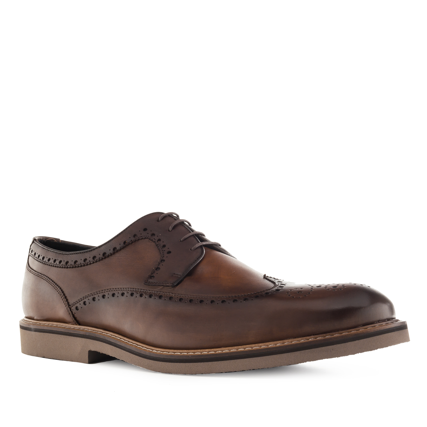 Oxford style Shoes in Brown Leather