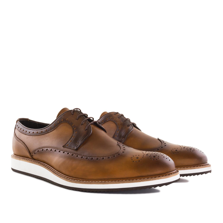 Zapato Oxford Piel color Cuero