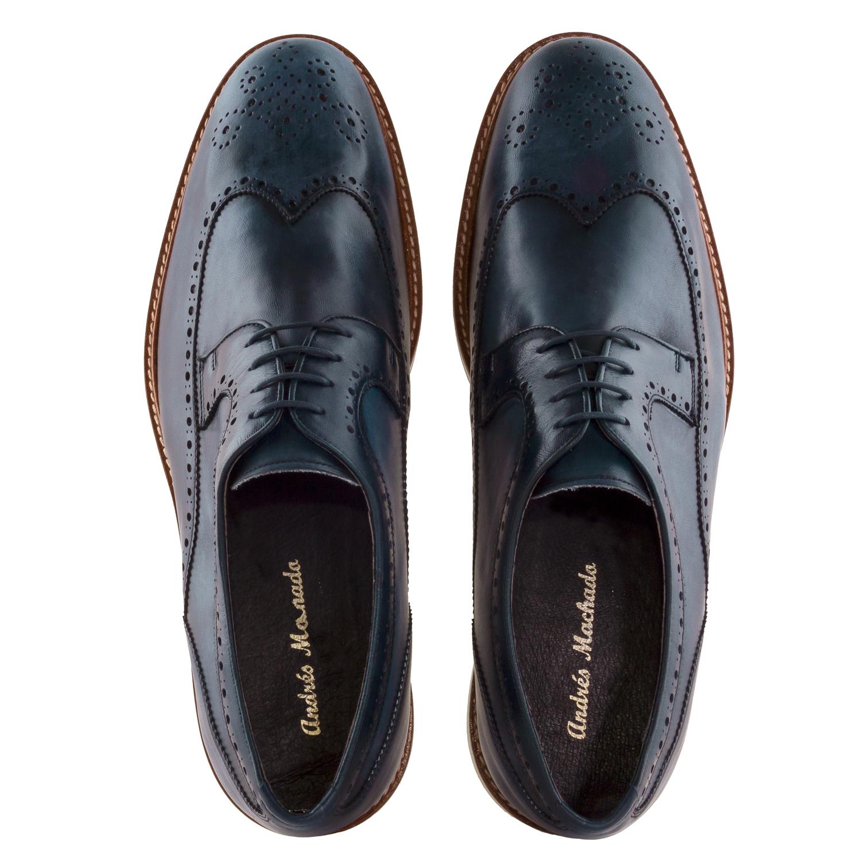 Zapato Oxford Piel Marino