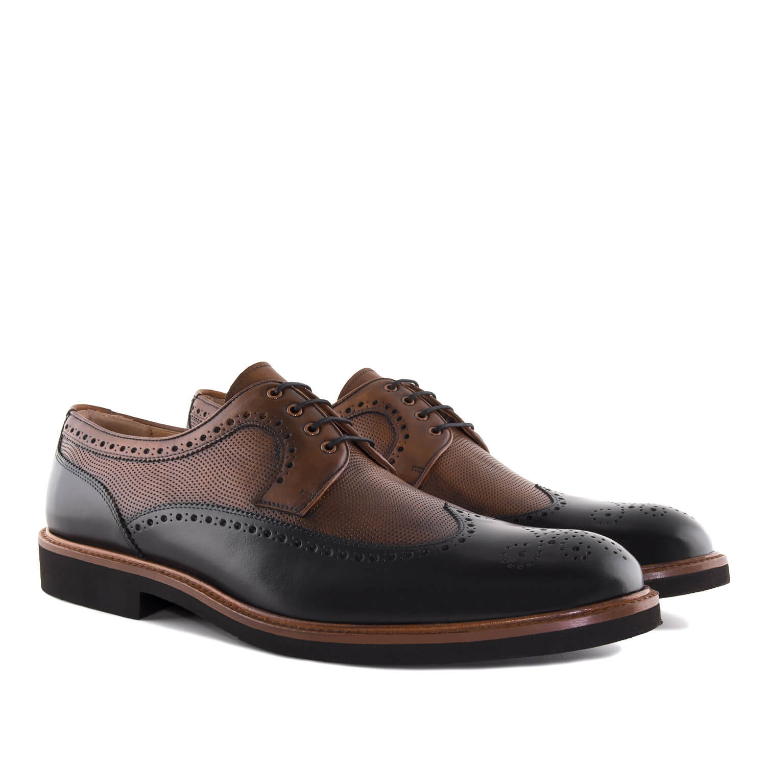Oxford Shoes in Black & Brown Leather