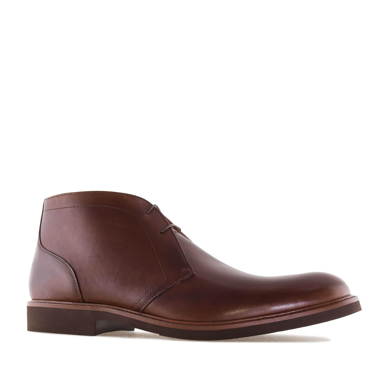 0992f1af3a Pánská kožená kotníčková obuv. Hnědá. - Pánská obuv