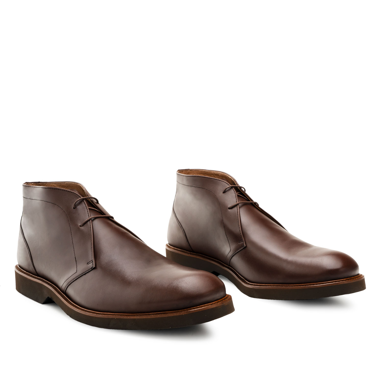 Muške kratke kožne čizme, braon