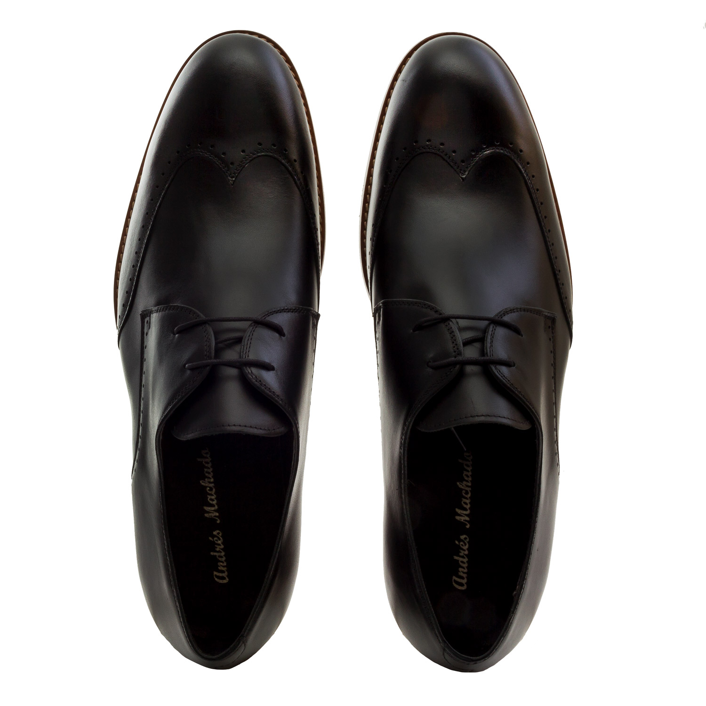 Zapatos Oxford Piel Negro