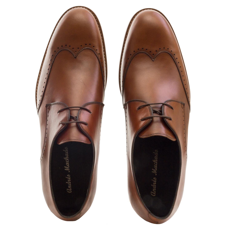 Zapatos Oxford Piel Caoba