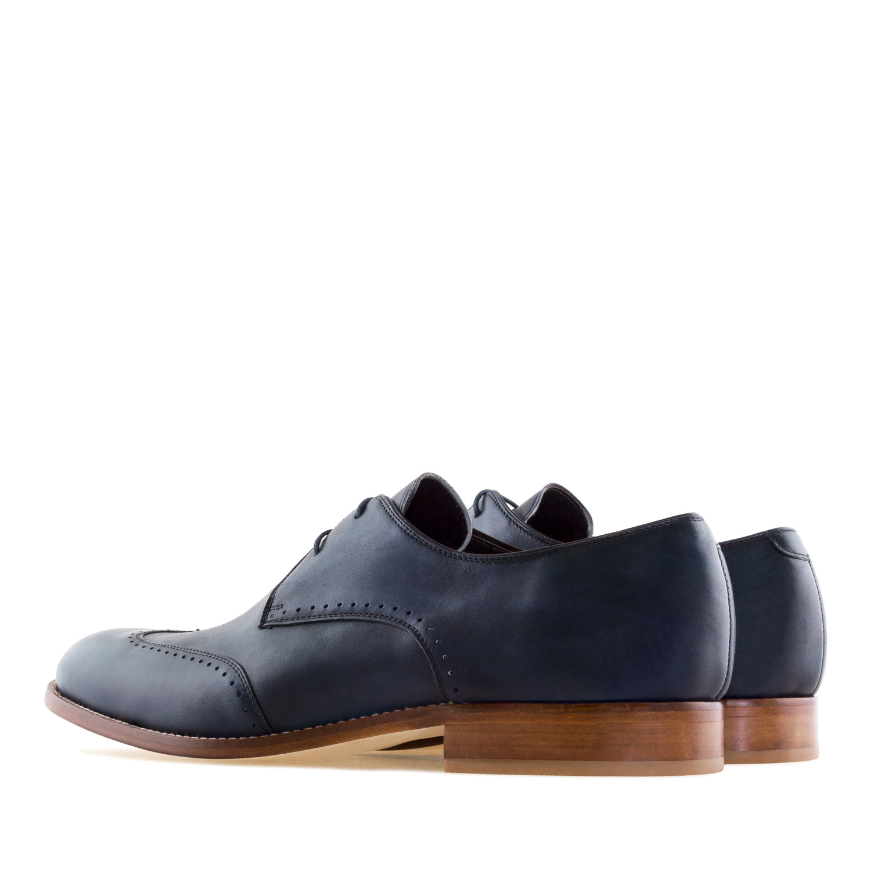 Zapatos Oxford Piel Marino