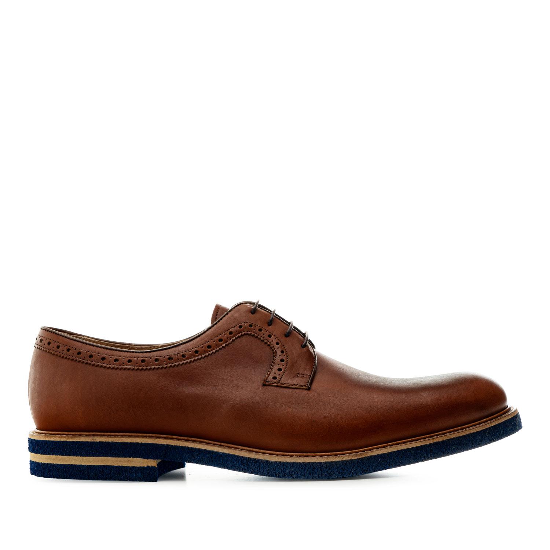 Zapato estilo Oxford en Cuero Caoba