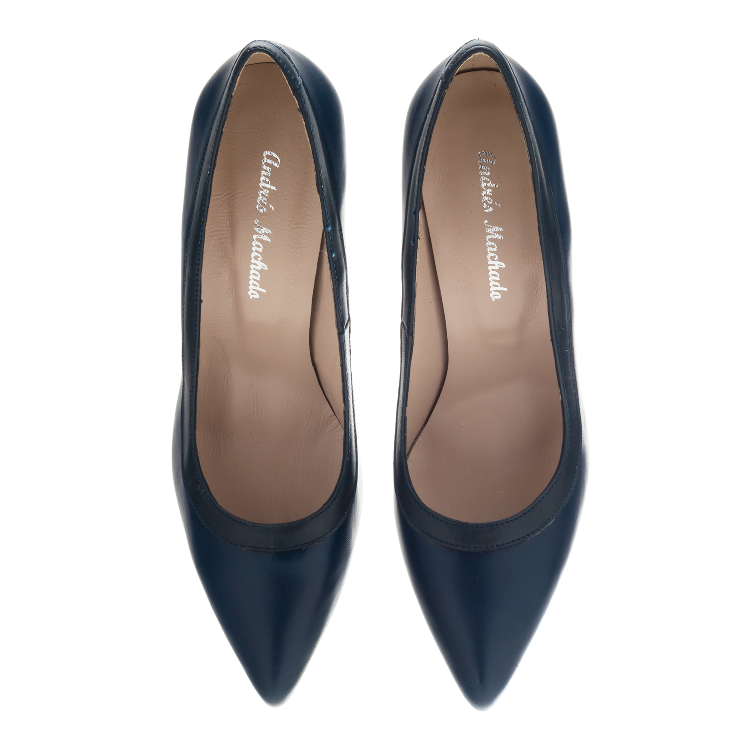 Pumps aus marineblauem Leder - MADE in SPAIN -