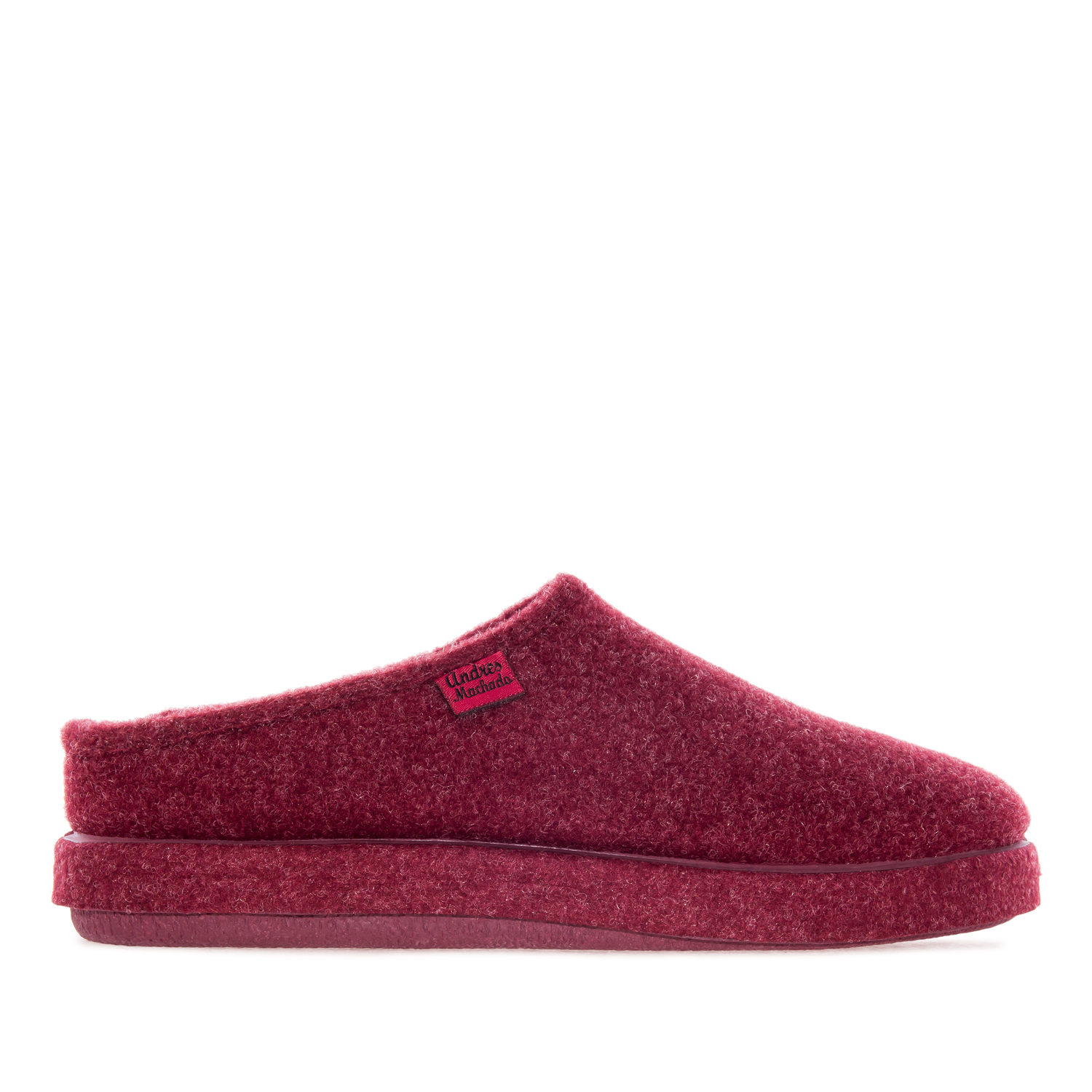 Very comfortable Burgundy Felt Slippers with footbed