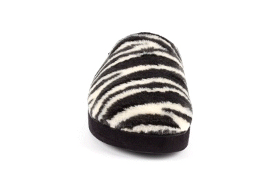 Zapatillas de Pelo con estampado de Cebra.