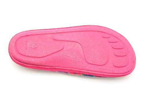 Fuchsia Check Print Alpine Slippers