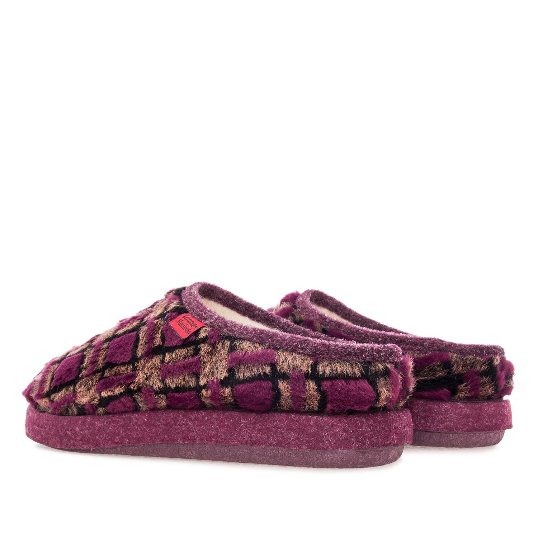Anatomske papuče, bordo sa šarom