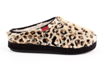 Zapatillas de Pelo Largo con estampado de Leopardo.