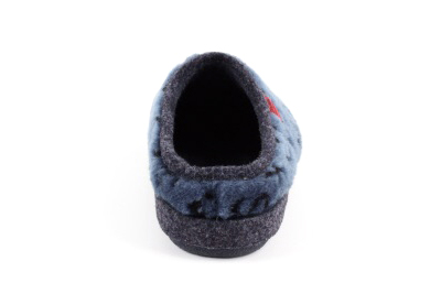 Anatomske papuče, kombinacija plave i crne