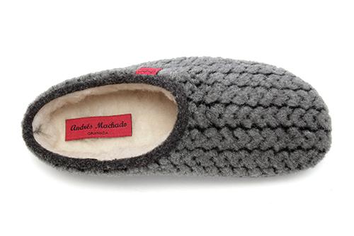 Zapatillas Alpinas con Estampado Espiga Gris.