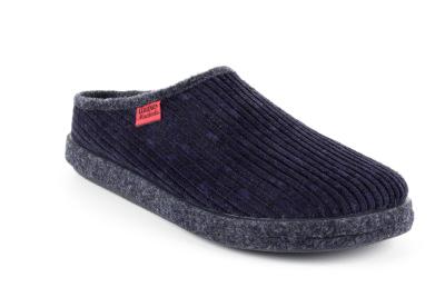 Módní modré bačkory- pantofle. Materiál manchester.