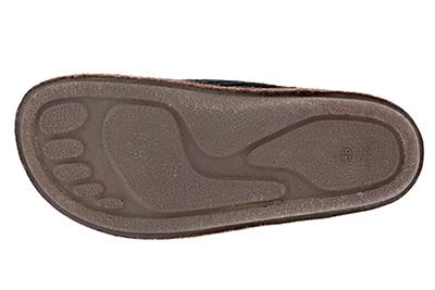 Módní hnědé bačkory- pantofle. Materiál manchester.
