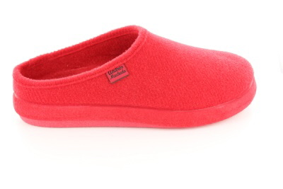 Erittäin mukavat punaiset huopatossut muotoilulla sisäpohjallisella.