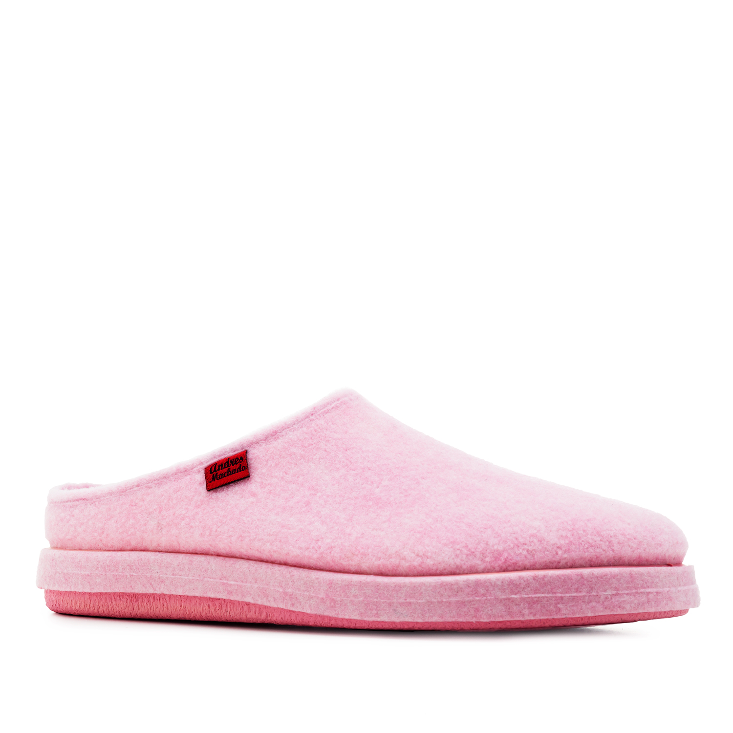 Very comfortable Pink Felt Slippers with footbed