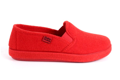 Anatomske zatvorene papuče, crvene