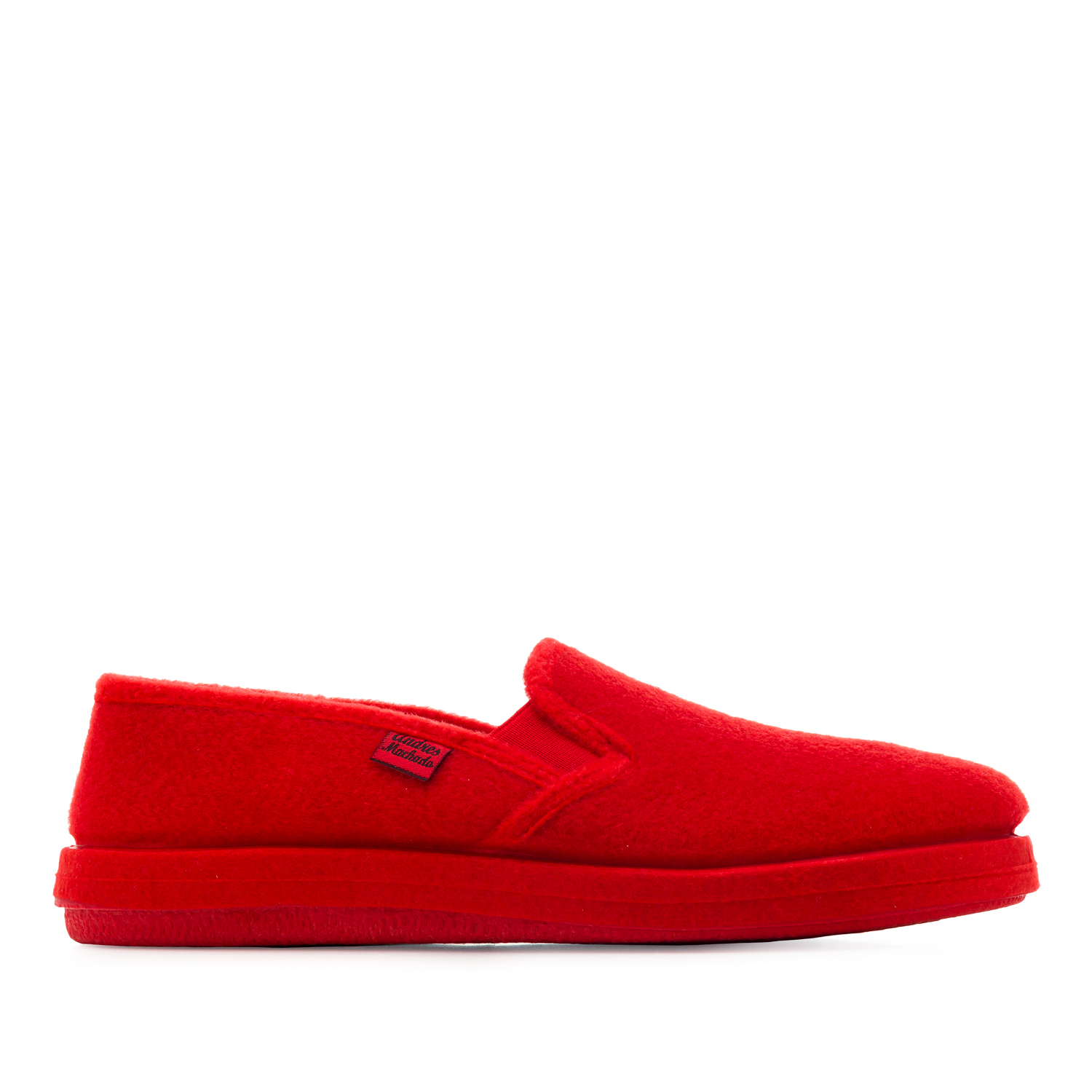 Red Alpine Felt Closed-Back Slippers