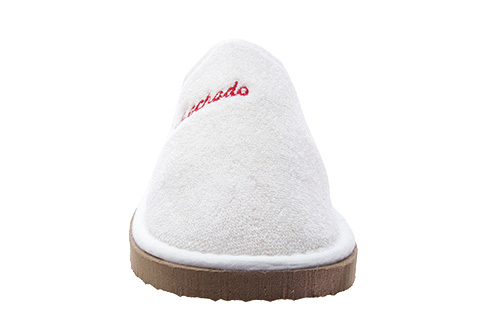 Chinelas de Rizo Blanco con suela EVA