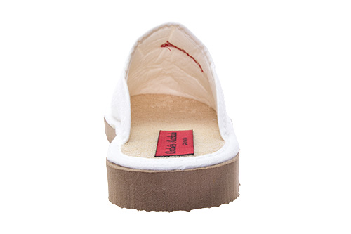 Bílé froté papuče