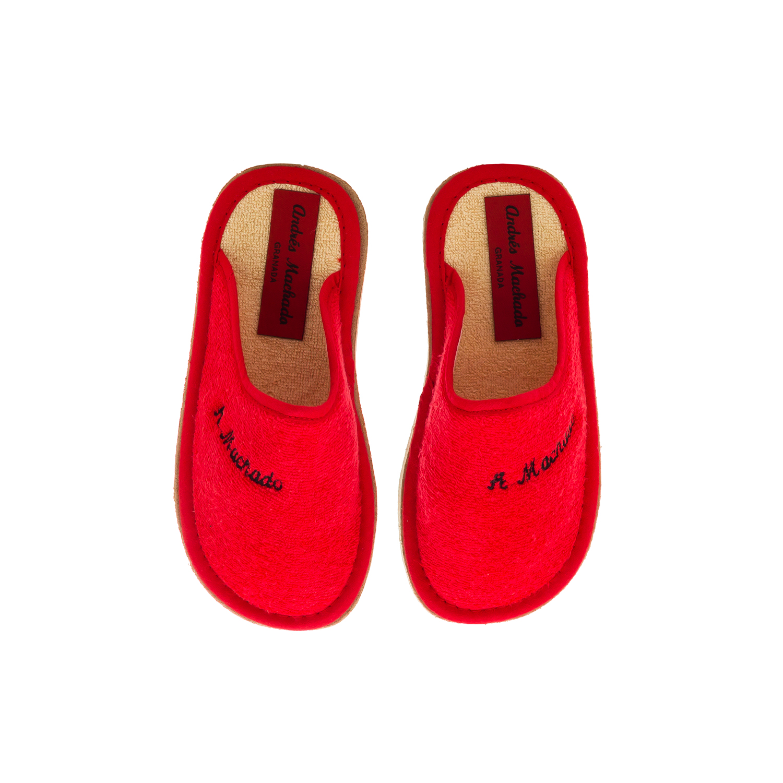 Chinelas de Rizo Rojo con suela EVA