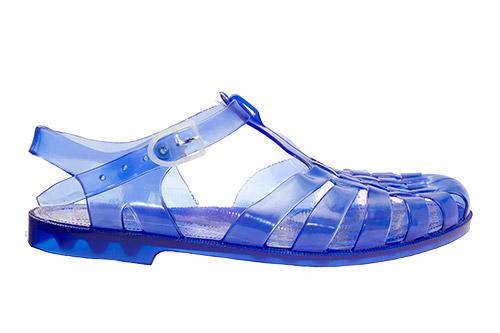 Sandalia cangrejera azul marino
