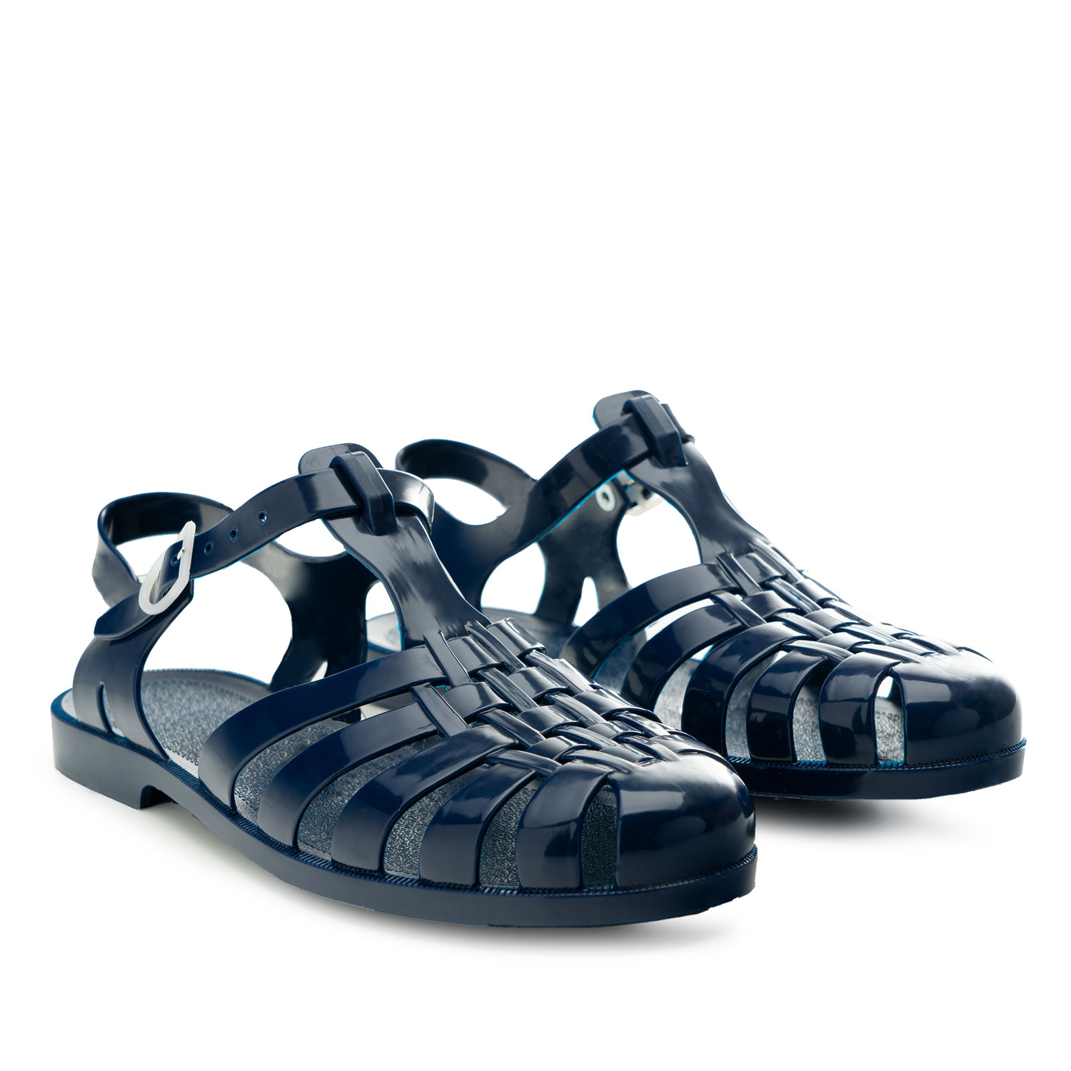 Dark Blue Plastic Water Sandals