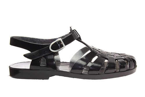 Sandalia cangrejera negra