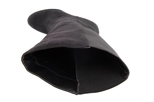 Bota Tacon Ante elastico Negro.