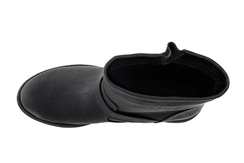 Bajkerske ravne čizme, crne