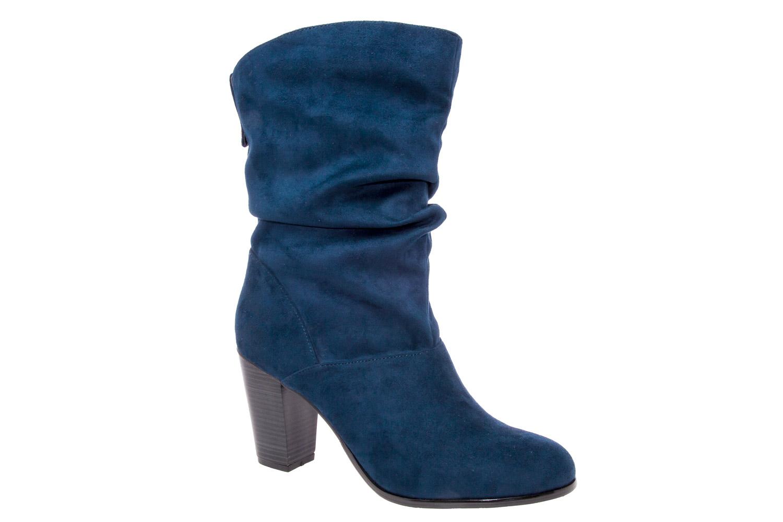 Botas Arrugadas en Ante Azul