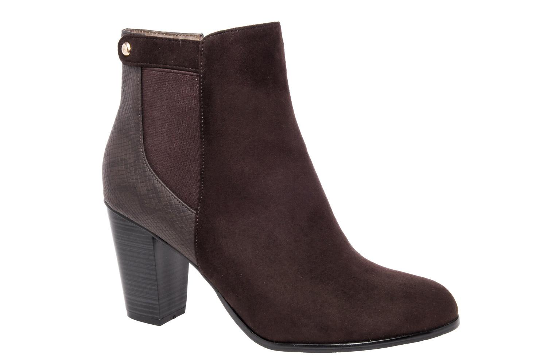 Semišová kotníčková obuv na podpatku d0408c5780