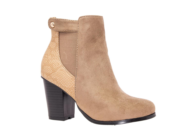 1ee55f316ae Semišová kotníčková obuv na podpatku