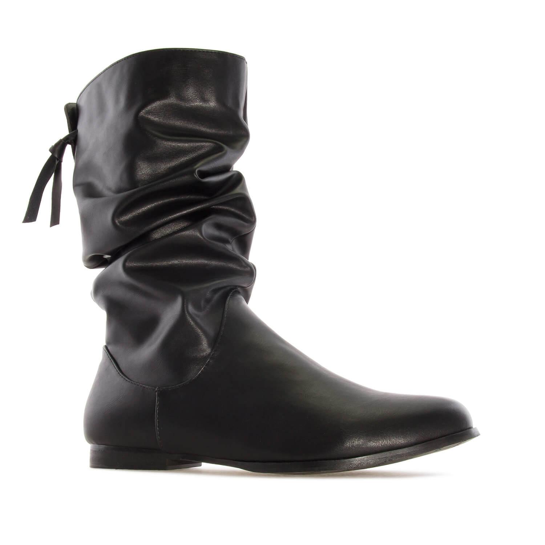 Duboke naborane čizme, crne