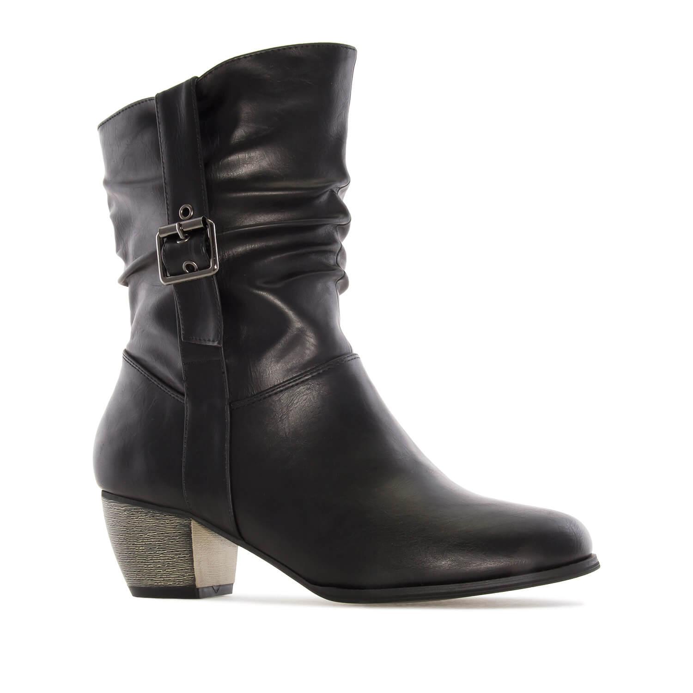 Kratke čizme sa šnalom, crne
