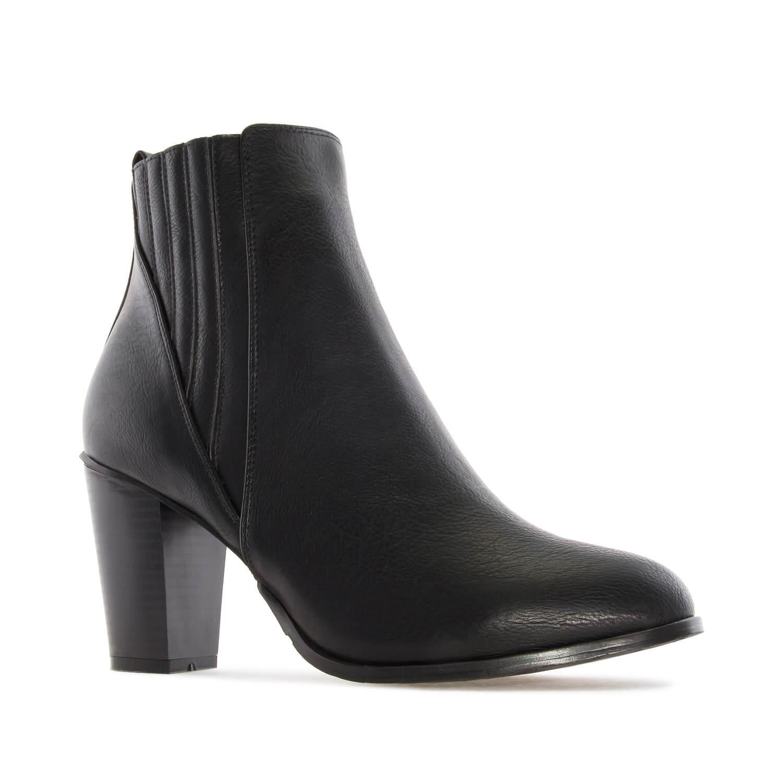 Čizme do članka sa elastičnom trakom, crne
