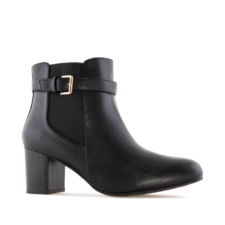 Kratke čizme sa dekorativnom šnalom, crne