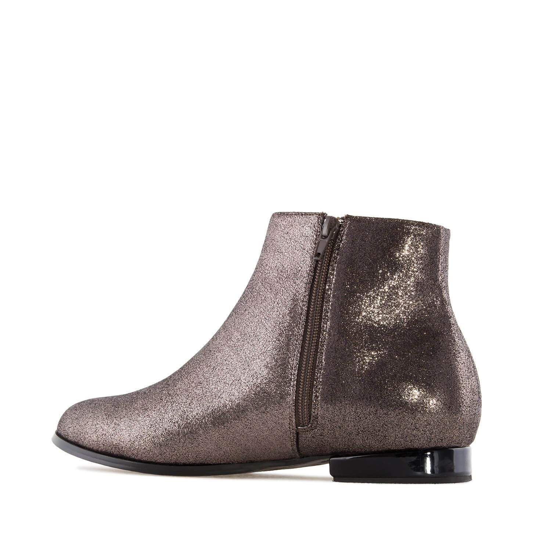 Kotníčková obuv třpytivá. Bronzová.
