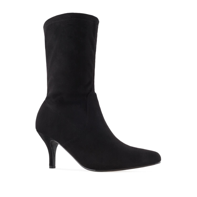 Elastične špicaste čizme, crne
