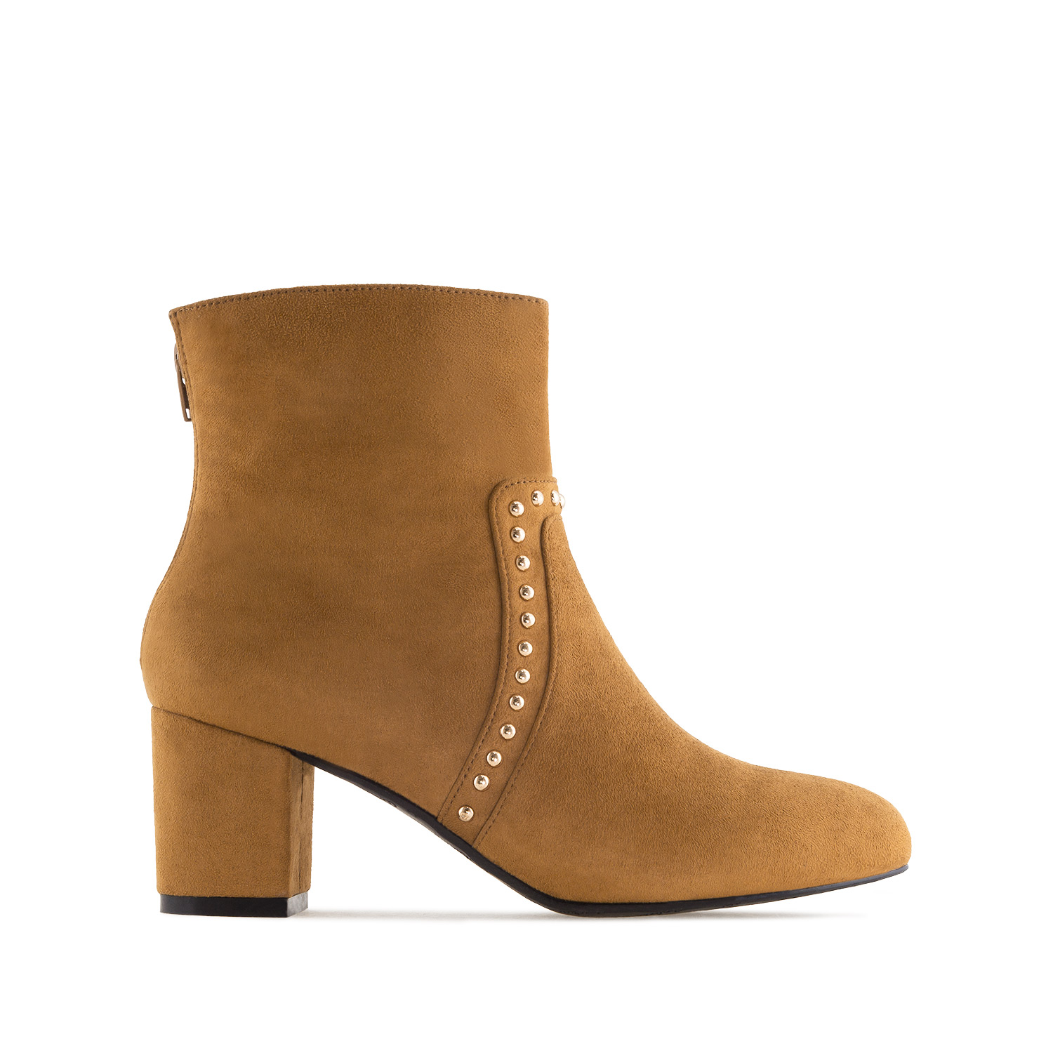 Bottines clous Daim Camel