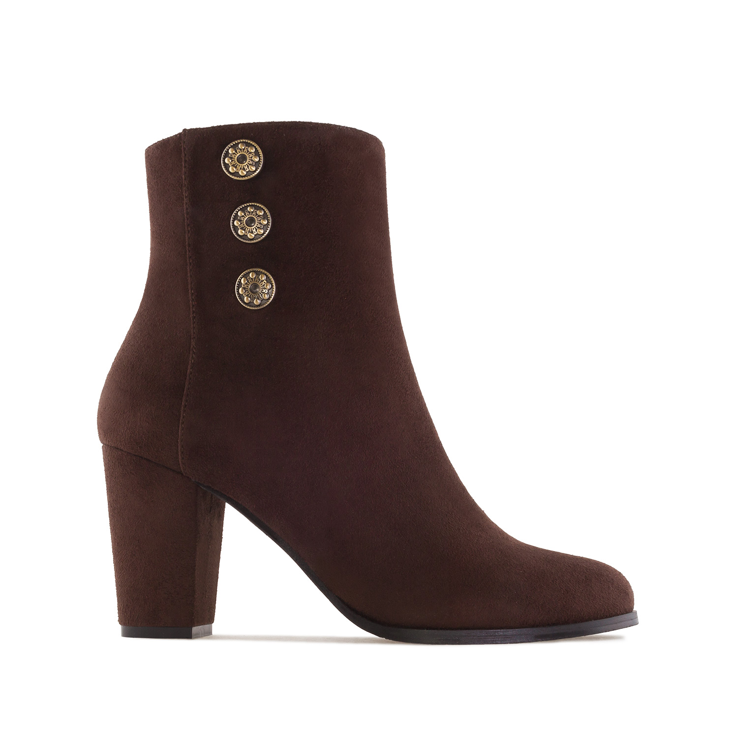 Ankle Boots in Brown Suede