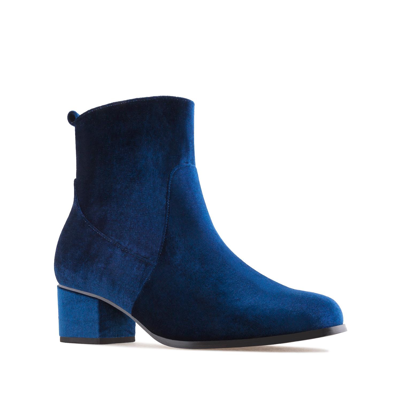 Botín Velvet Azul