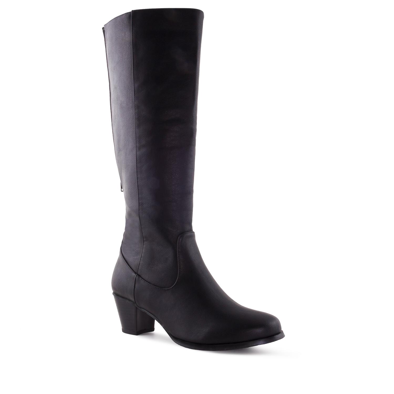 Duboke čizme sa elastičnim delom, crne